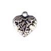 Metal Heart Antique Silver